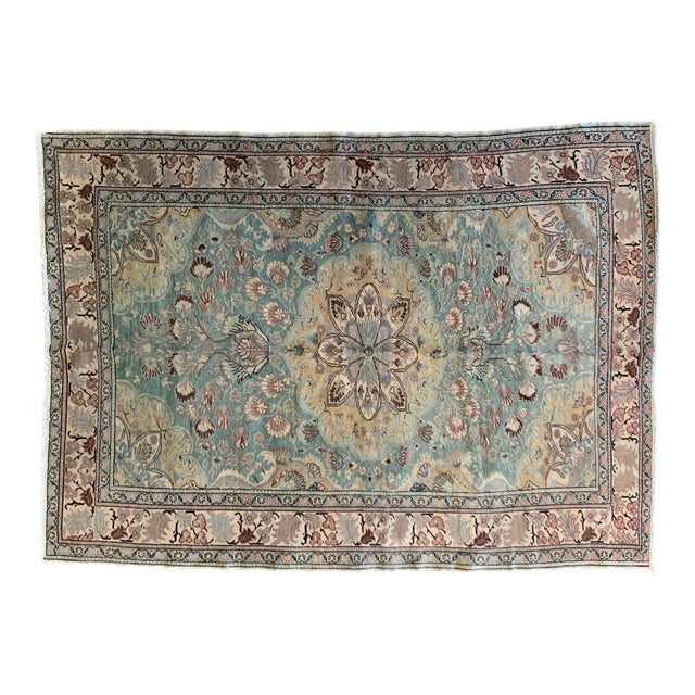 """Mid 20th Century Antique Persian Rug - 6' 6"""" X 4' 9.5"""" For Sale"""