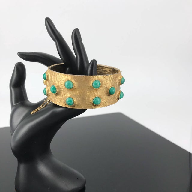 1960s 1960s Massive Volcano Bellini Bracelet Designer Costume High-End Couture For Sale - Image 5 of 7