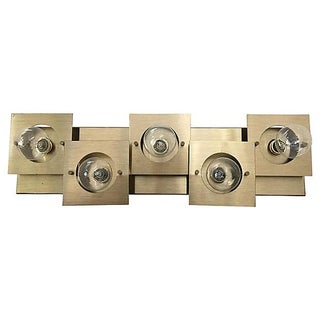 Geometric Brass Wall or Ceiling Light Preview