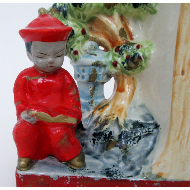 Vintage Japanese Bookends, a Pair For Sale - Image 4 of 8