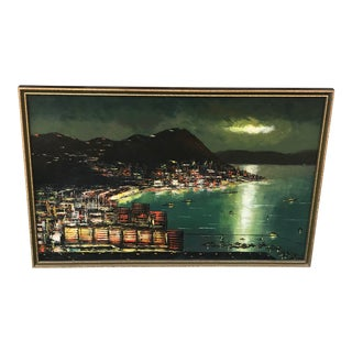 1960s Vintage Mathew Ha Painting For Sale