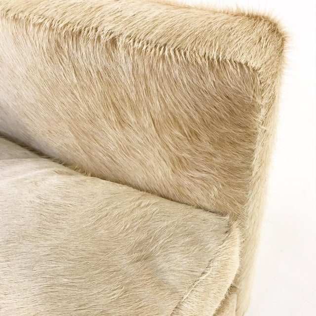 Forsyth One of a Kind Milo Baughman for Thayer Coggin Loveseat Sofa in Palomino Brazilian Cowhide For Sale - Image 9 of 9