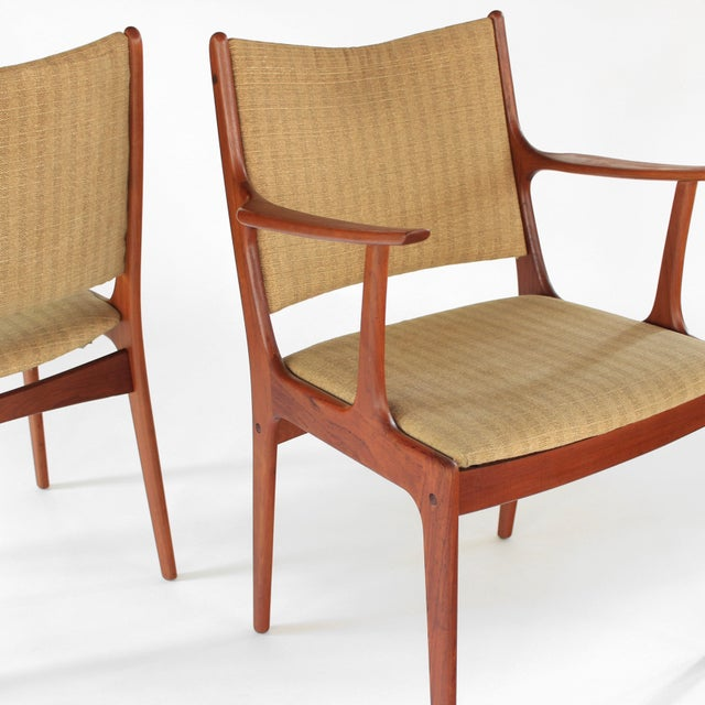 Mid Century Danish Modern Johannes Andersen for Uldum Møbelfabrik Dining Chairs- A Pair For Sale In Charlotte - Image 6 of 11
