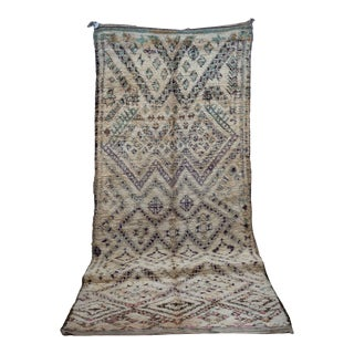 """Beni Ourain Vintage Moroccan Rug, 5'9"""" X 12'10"""" For Sale"""