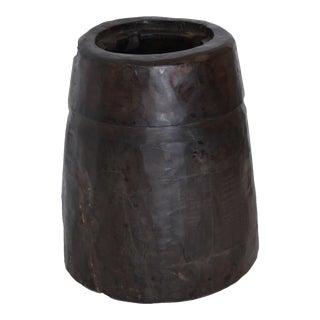Vintage Hand Carved Wood Vase