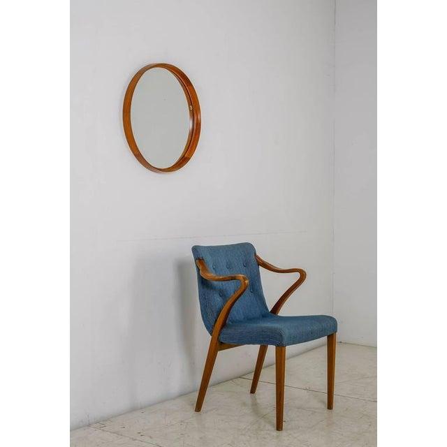 Uno and Östen Kristiansson teak mirror for Luxus, Sweden, 1960s - Image 2 of 4