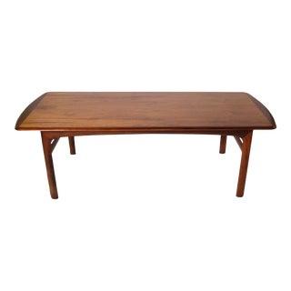 Italian Wood Coffee Table For Sale