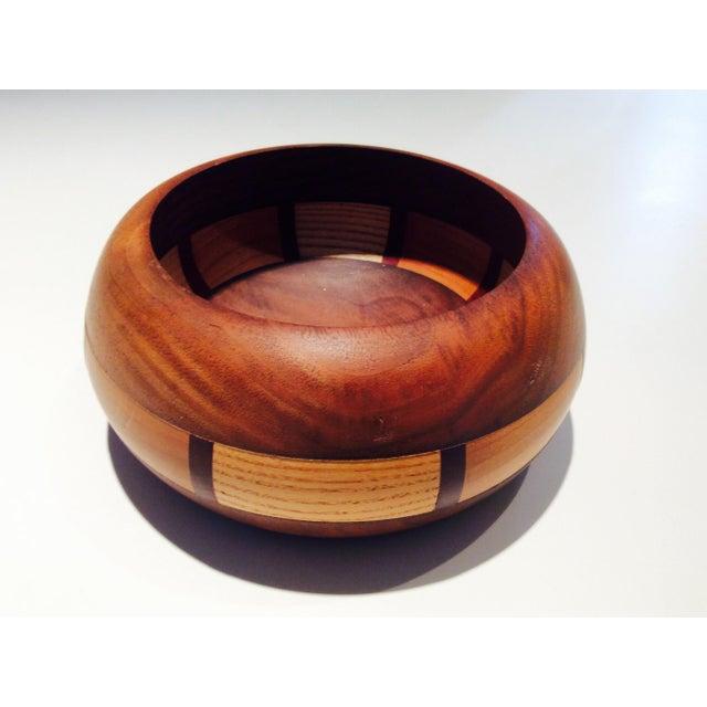 Mid-Century Style Wood Bowl - Image 2 of 9