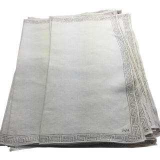 Vera Greek Key Linen Napkin Set