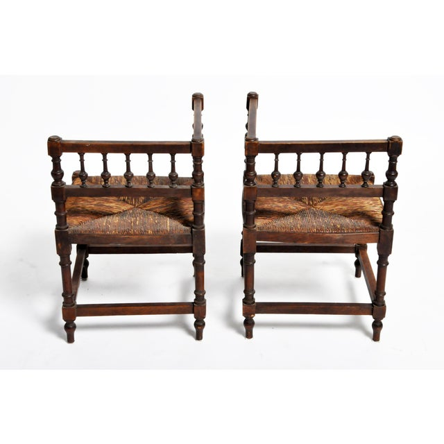 French Wooden Corner Chairs - a Pair For Sale - Image 4 of 13