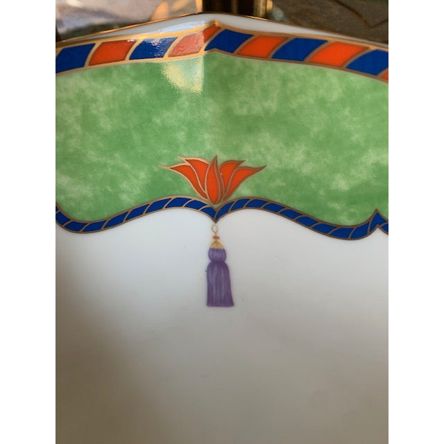 Late 20th Century Vintage Lynn Chase Tiger Raj Octagonal Bowl For Sale - Image 9 of 10