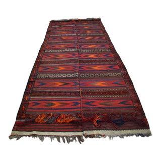 "Vintage Afghan Kuchi Handwoven Kilim Rug - 5'3"" x 13'8"""