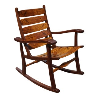 Hand-Made Artisan Rocking Chair For Sale