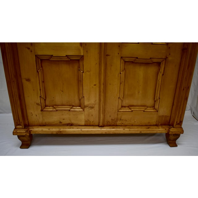 Pine Two Door Armoire For Sale - Image 11 of 13