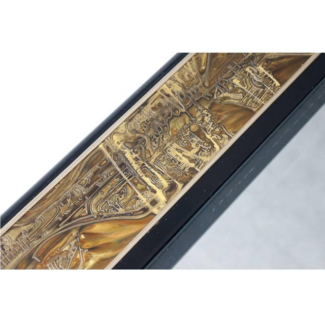 Gold Acid-Etched Brass Coffee Table by Bernhard Rohne for Mastercraft For Sale - Image 8 of 10