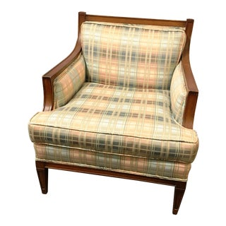Pastels Plaid Arm Chair