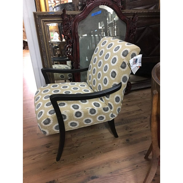Fabric Sam Moore Hooker 'Dante' Exposed Wood Chair For Sale - Image 7 of 12