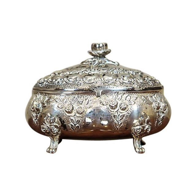 Mid 20th Century Silver Sugar Bowl For Sale - Image 9 of 9