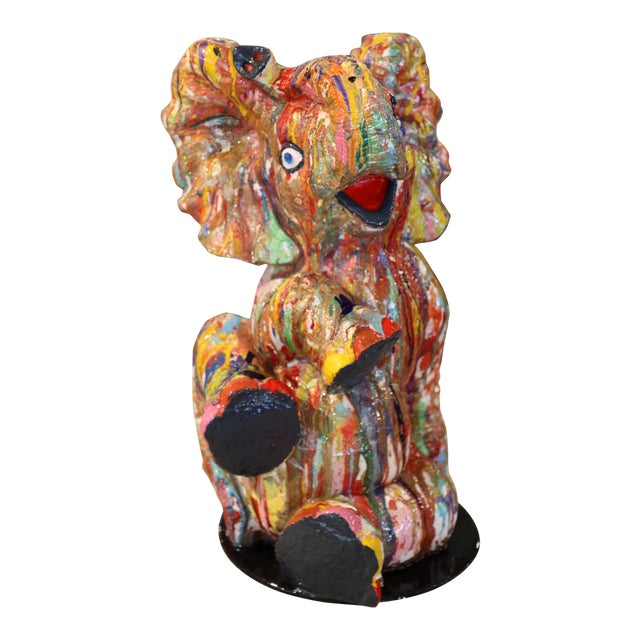 """Mauro Oliveira """"Playful Baby Elephant"""" Sculpture For Sale"""