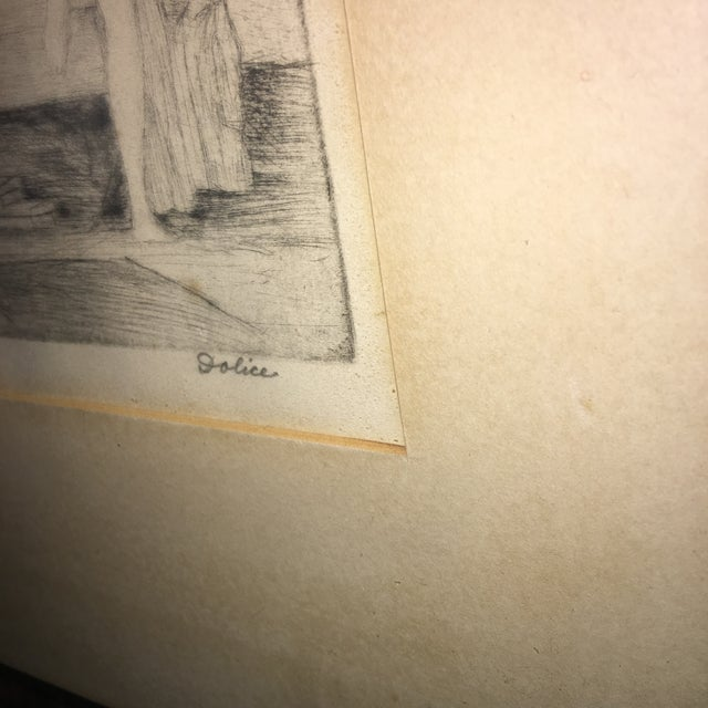 """Leon Dolice """"Helen """" Etching on Paper Print For Sale - Image 4 of 7"""