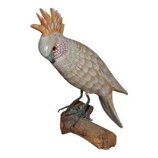Vintage Wooden Cockatoo Model