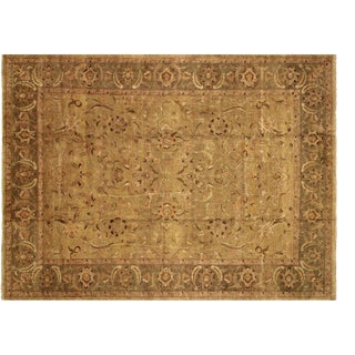1980s Dean Gold/Green Wool Rug For Sale