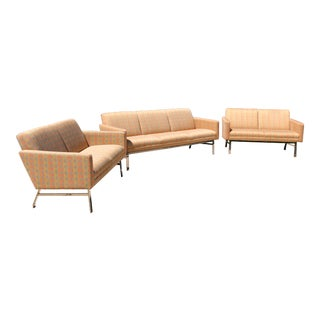 Mid-Century Modern Jack Cartwright Kelly Sofa and Settee Lounges- Set of 3 For Sale