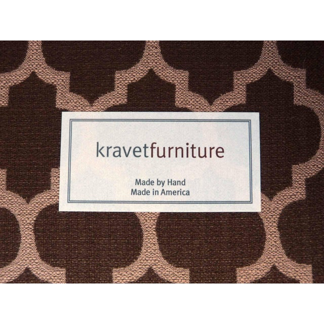Kravet Furniture Upholstered Lounge Chairs With Wood Frame - A Pair - Image 7 of 7