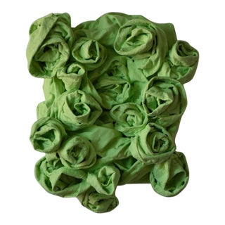 """Pastel Green Rosettes"" Mixed Media Wall Sculpture For Sale"