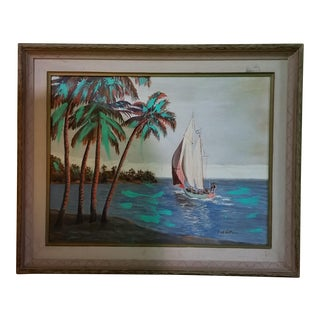 Fred Hoffman Tropical Painting