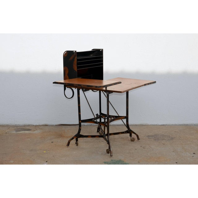 Metal Early Industrial Rolling Desk by Toledo For Sale - Image 7 of 7