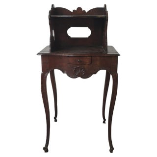 18th Century French Oak Single Drawer Stand For Sale