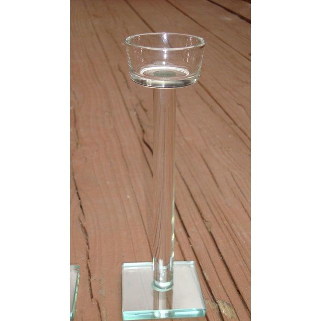Minimalist Glam Glass Candlesticks - Set of 3 - Image 5 of 9