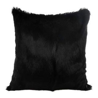 Springbok Pillow in Black 17x17 For Sale