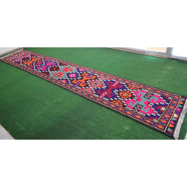 Long Runner Kurdish Hand-Knotted Rug - 2′9″ × 15′5″ - Image 3 of 10