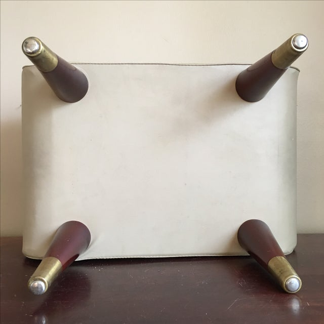 Mid-Century Sewing Stool with Storage - Image 4 of 11