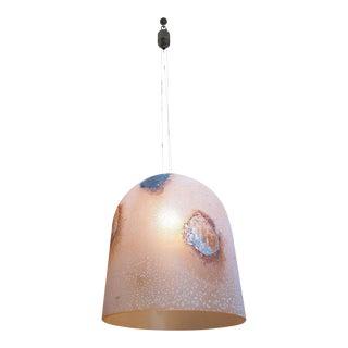 Barbini Stamped Murano Glass, Mid Century Modern Chandelier, Pendant Light 1983 For Sale