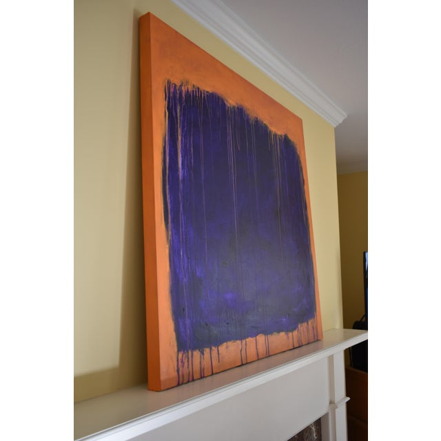 """Stephen Remick """"Tempest"""" Abstract Painting For Sale - Image 9 of 12"""