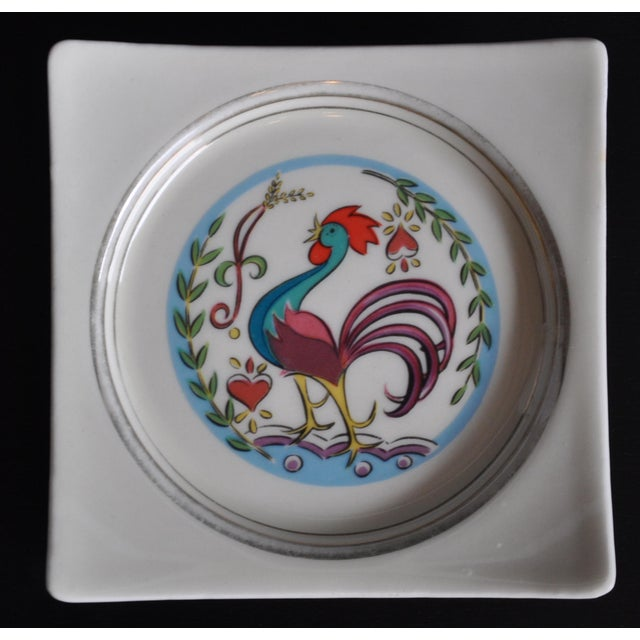 Beautiful little dish. Perfect for Jewelry, ashtray, keys, candy. Vibrant Colors and Happy Design. Some little wear on...