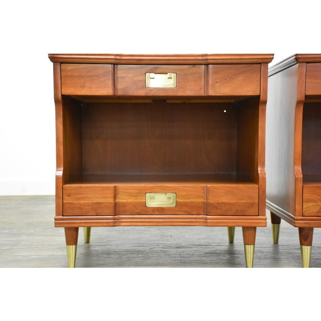 Cherry Nightstands by John Widdicomb - a Pair For Sale In Boston - Image 6 of 12