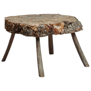 Early 20th Century Tree Trunk Table From France For Sale
