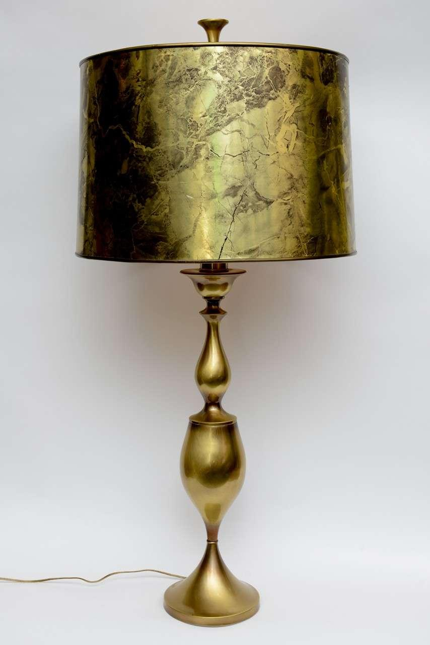 Incredible Mid Century Modern Rembrandt Brass Table Lamp Decaso