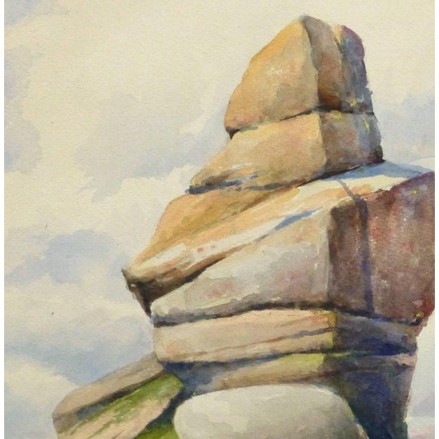Traditional S. Lefevre Goux, Vintage French Watercolor Seascape - Cape Fréhel, Brittany, France For Sale - Image 3 of 5
