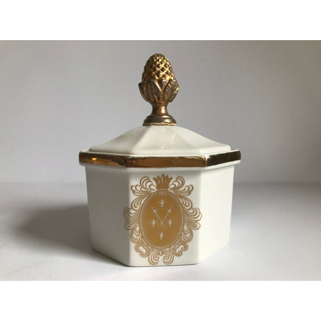 Vintage Bowl With Gold Acorn Finial Cover - Image 7 of 7