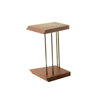 Mahogany and Brass Table Bookend For Sale