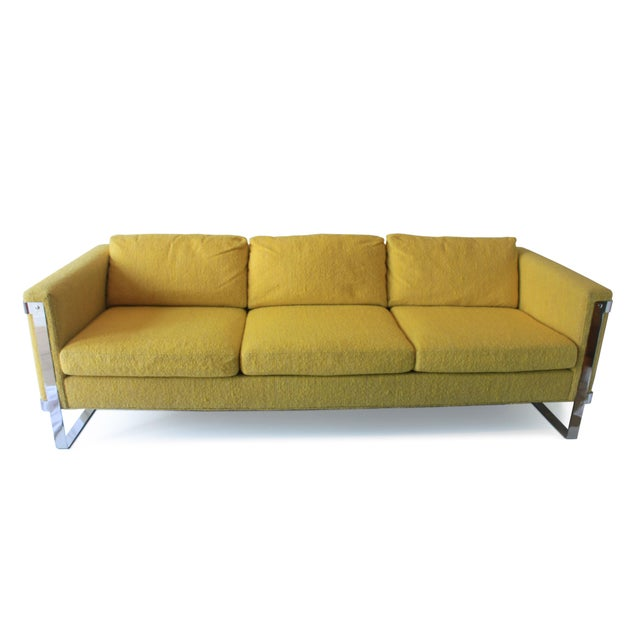 1970s 1970s Vintage Milo Baughman Style Sofa For Sale - Image 5 of 10