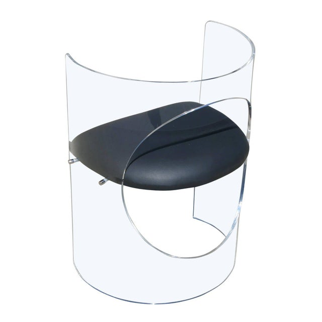 Charles Hollis Jones 1960s Style Designed Lucite Chair For Sale In Los Angeles - Image 6 of 8