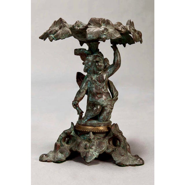 19th C. Tall Bronze French Tazzas - A Pair For Sale - Image 4 of 5