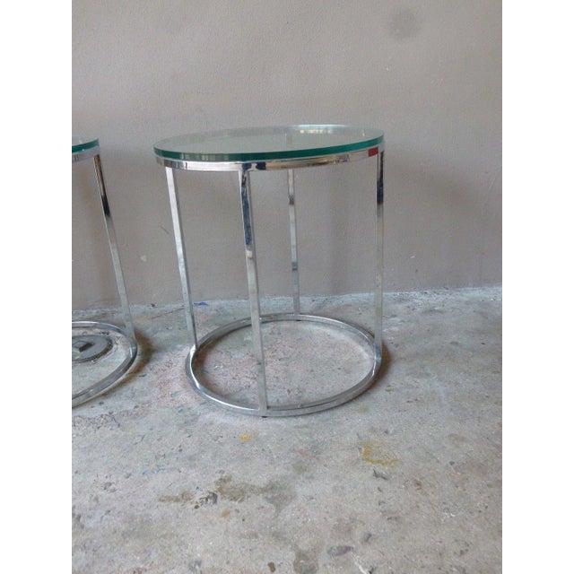 1970s 1970s Vintage Milo Baughman Chrome Tables - A Pair For Sale - Image 5 of 11