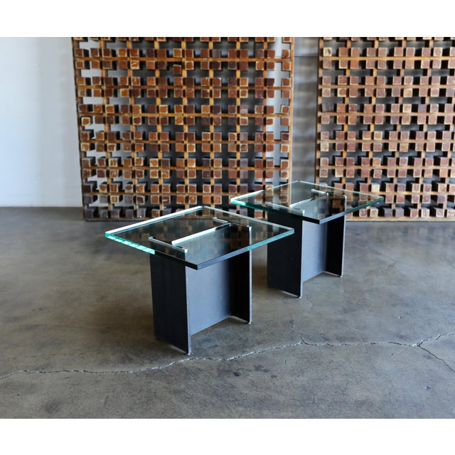 Gerald McCabe I Beam Side Tables Circa 1965